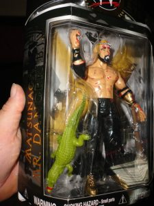 Mitsuhiro Matsunaga custom fig, complete with packaging and alligator from the infamous alligator deathmatch