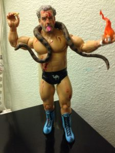 The Original Sheik with snake and fireball