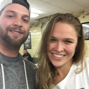 Brian Carson with Ronda Rousey at AIW
