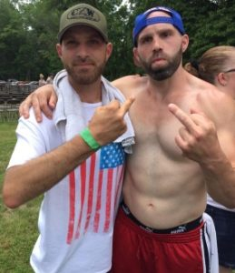 David Russell and Nick Gage at Tournament of Death