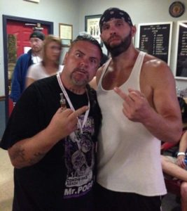 Anthony Mossow with Nick Gage at IWA Mid-South King of the Deathmatches 2015
