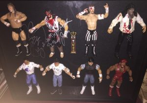 Anthony recreated each of the 8 combatants in the original 1995 IWA Japan King of the Deathmatches tournament - complete with Cactus Jack's autograph